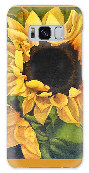 Burst Of Sunflowers Galaxy Case by Sandra Nardone