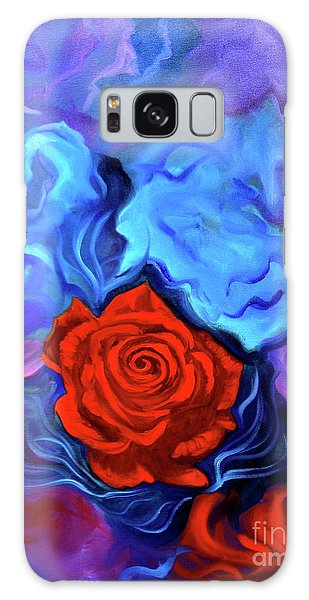 Bursting Rose Galaxy Case by Jenny Lee