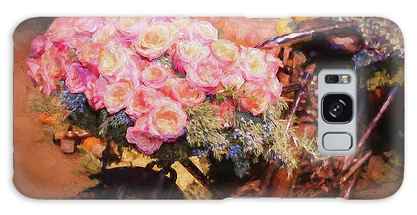 Bursting With Flowers Galaxy Case by Patrice Zinck