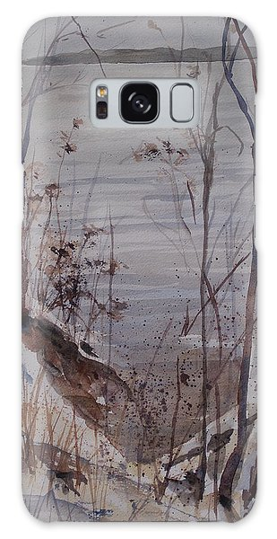 Burt Lake In Winter Galaxy Case by Sandra Strohschein