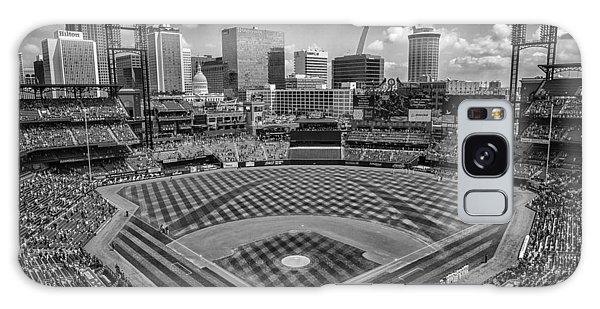 Busch Stadium St. Louis Cardinals Black White Ballpark Village Galaxy Case
