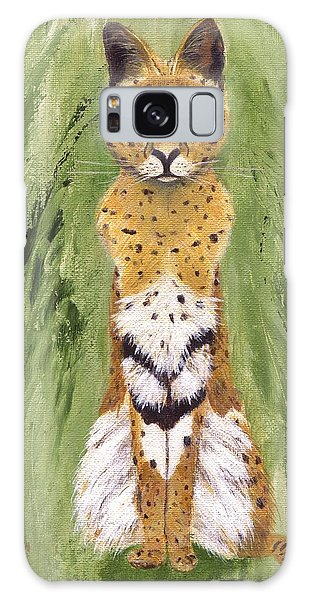 Galaxy Case featuring the painting Bush Cat by Jamie Frier