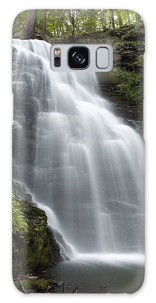 Bushkill Falls - Daughter Fall Galaxy Case by Don Mennig