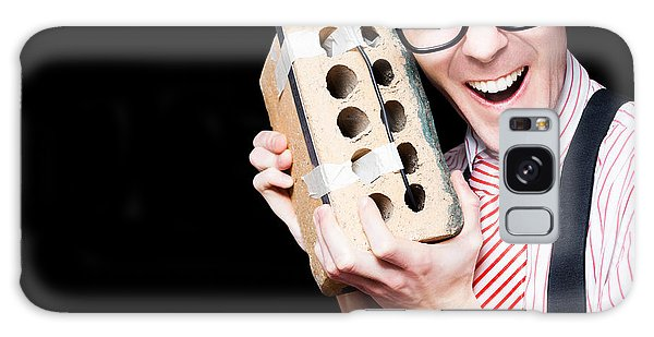 Vivacious Galaxy Case - Business Geek Laughing On House Brick Phone by Jorgo Photography - Wall Art Gallery