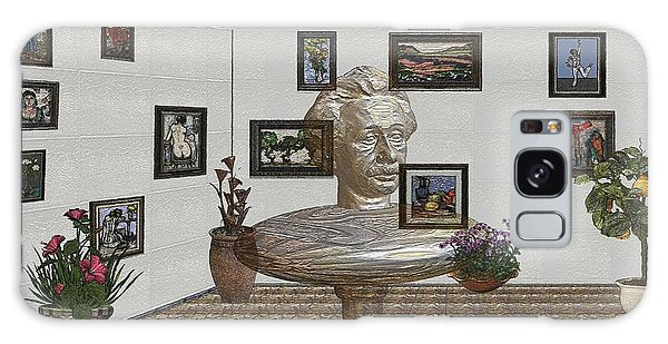 Bust Of The Spirit Of Einstein 1 Galaxy Case
