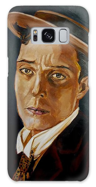 Buster Keaton Tribute Galaxy Case by Bryan Bustard
