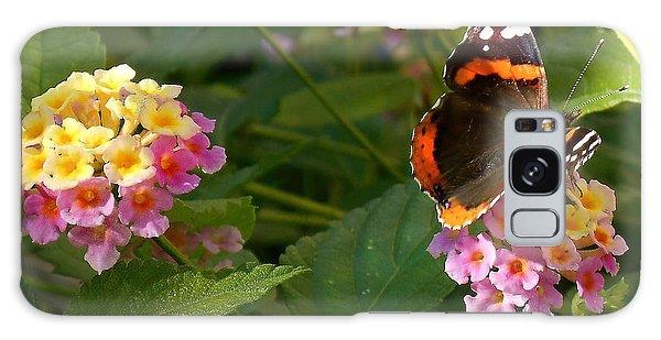 Busy Butterfly Side 1 Galaxy Case by Felipe Adan Lerma