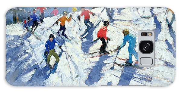 Holiday Galaxy Case - Busy Ski Slope by Andrew Macara