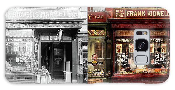 Butcher - Meat Priced Right 1916 - Side By Side Galaxy Case by Mike Savad