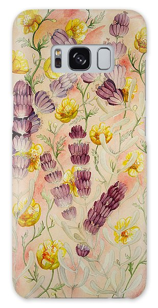 Buttercups And Lavendar Galaxy Case