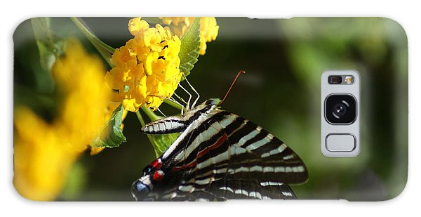 Butterflies And Blooms Galaxy Case