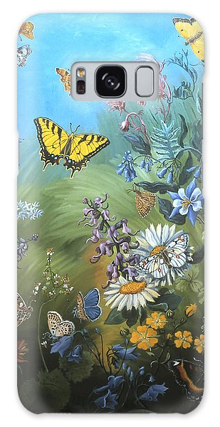 Butterflies And Wildflowers Of Wyoming Galaxy Case by Dawn Senior-Trask