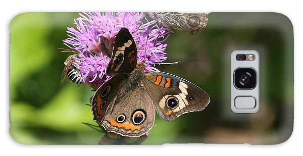 Butterflies And Purple Flower Galaxy Case