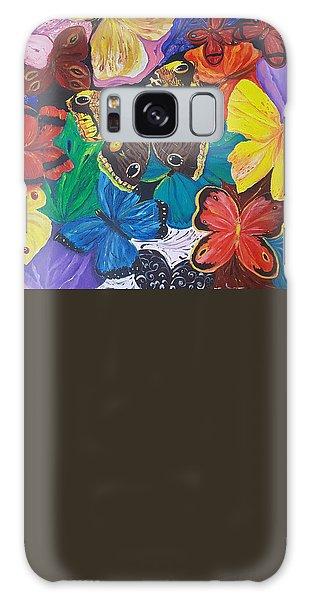 Butterflies 2 Galaxy Case by Rita Fetisov