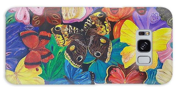 Butterflies Galaxy Case by Rita Fetisov