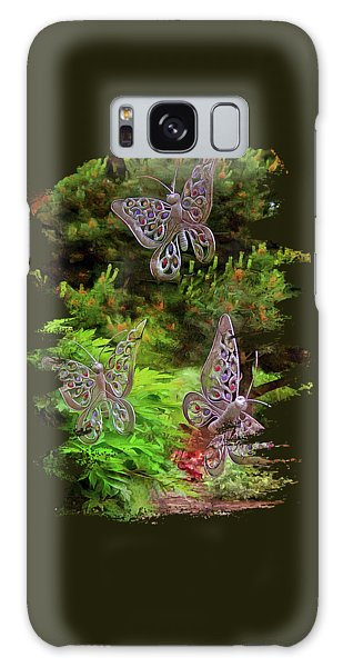 Galaxy Case featuring the photograph Butterflies by Thom Zehrfeld