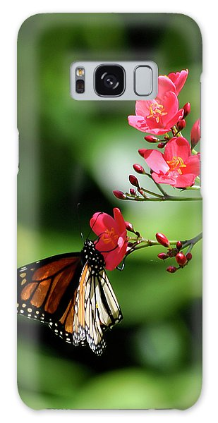 Butterfly And Blossom Galaxy Case