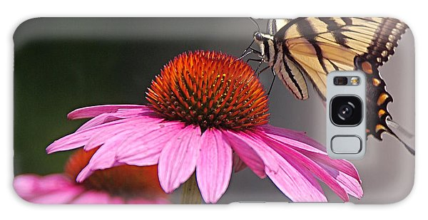 Butterfly And Coneflower Galaxy Case