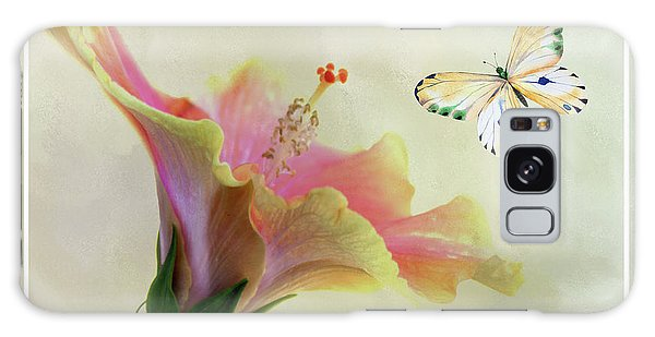 Butterfly And Fiesta Hibiscus Galaxy Case