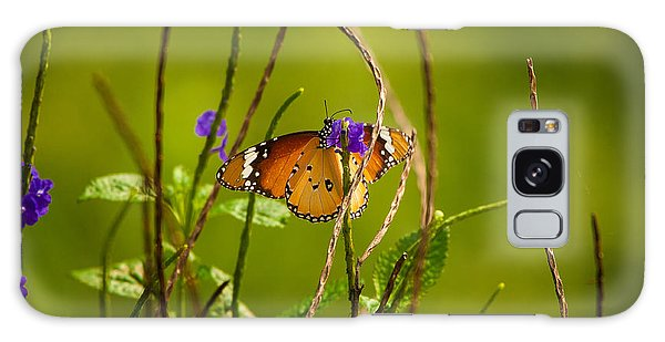 Butterfly And Flower Galaxy Case