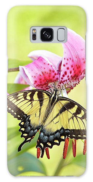 Butterfly And Lily Galaxy Case