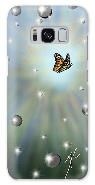 Galaxy Case featuring the digital art Butterfly Bubbles by Darren Cannell
