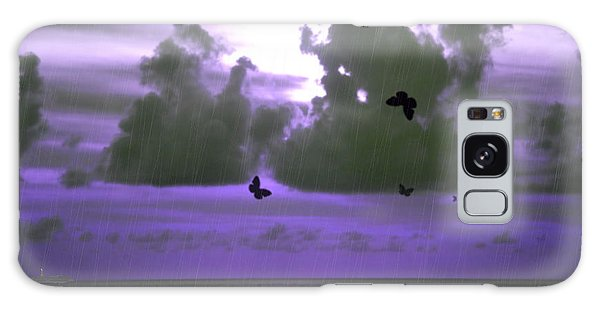 Butterfly Dreams And A Purple Sky Galaxy Case
