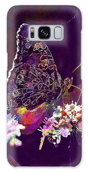 Galaxy Case featuring the digital art Butterfly Flower Summer Forage  by PixBreak Art