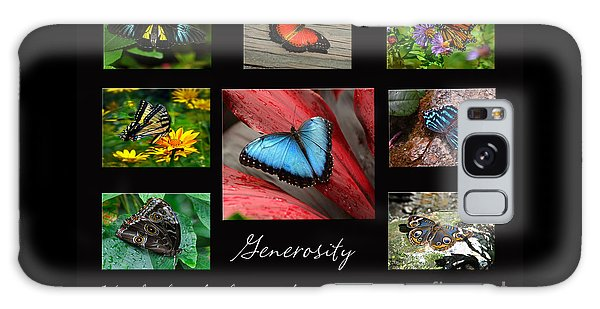 Butterfly Generosity Collage Galaxy Case by Diane E Berry