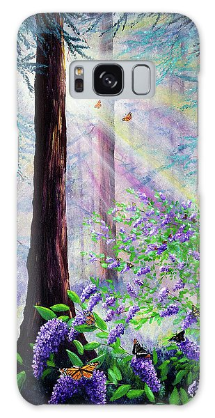 Light Paint Galaxy Case - Butterfly Grove In Redwood Forest by Laura Iverson