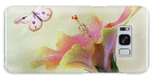 Butterfly Hibiscus Art II Galaxy Case