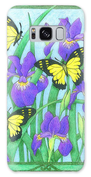 Butterfly Idyll-irises Galaxy Case