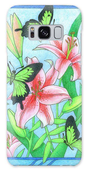 Butterfly Idyll- Lilies Galaxy Case