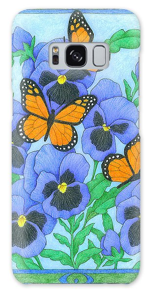 Butterfly Idyll-pansies Galaxy Case