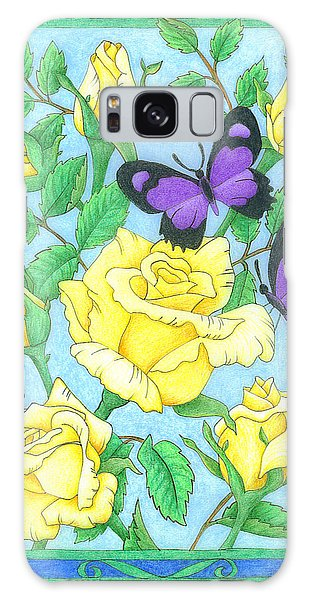 Butterfly Idyll-roses Galaxy Case
