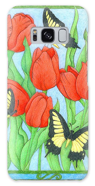 Butterfly Idyll-tulips Galaxy Case