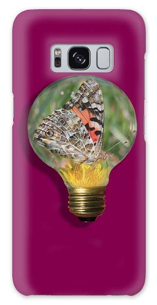 Butterfly In A Bulb II Galaxy Case