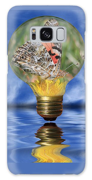 Butterfly In Lightbulb - Landscape Galaxy Case
