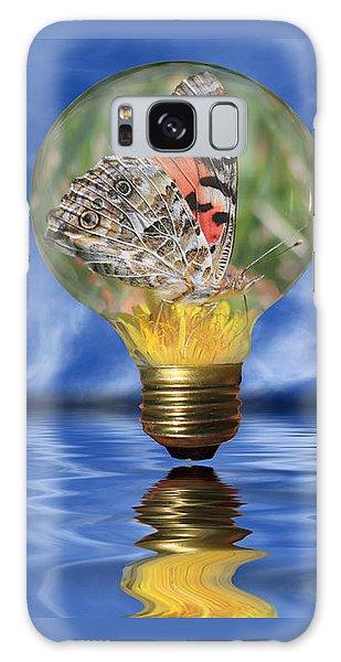Butterfly In Lightbulb - Landscape Galaxy Case