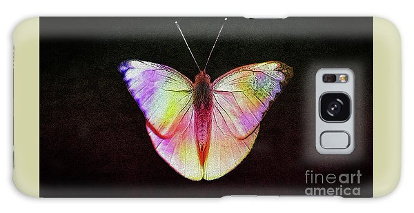 Butterfly In Retro  Galaxy Case