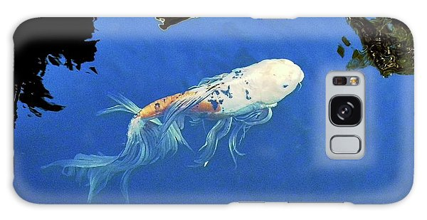 Butterfly Koi In Blue Sky Reflection Galaxy Case