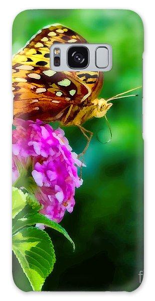 Butterfly Landing Galaxy Case