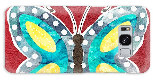 Insects Galaxy Case - Butterfly Liberty by Linda Woods