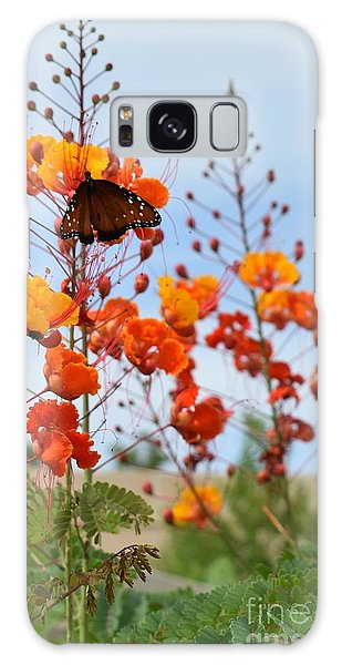 Butterfly On Bird Of Paradise Galaxy Case