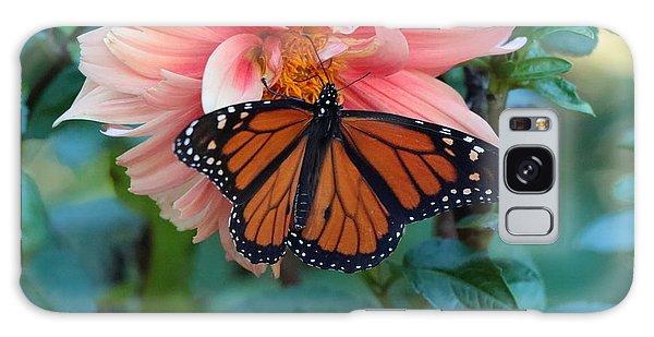 Butterfly On Dahlia Galaxy Case