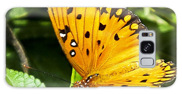 Galaxy Case featuring the photograph Butterfly On Lantana by Bill Barber