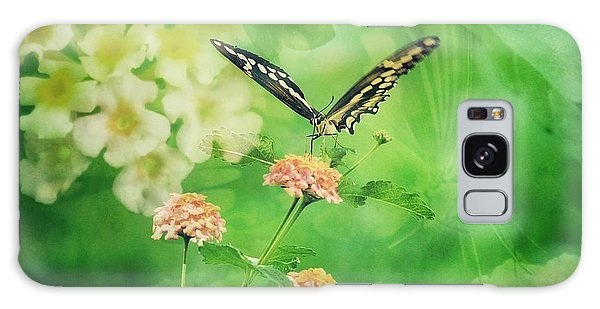 Butterfly On Lantana Montage Galaxy Case