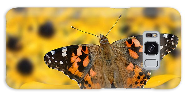 Butterfly On Rudbeckia Galaxy Case by Joe Bonita