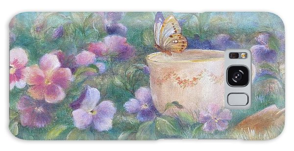 Butterfly On Teacup Galaxy Case