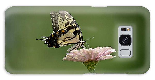 Butterfly On Zinnia Galaxy Case